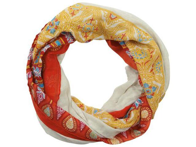 Sherpa Aruna Endless Halsbedekking Dames geel/rood